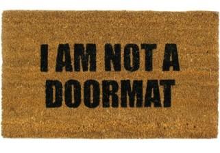 not a doormat