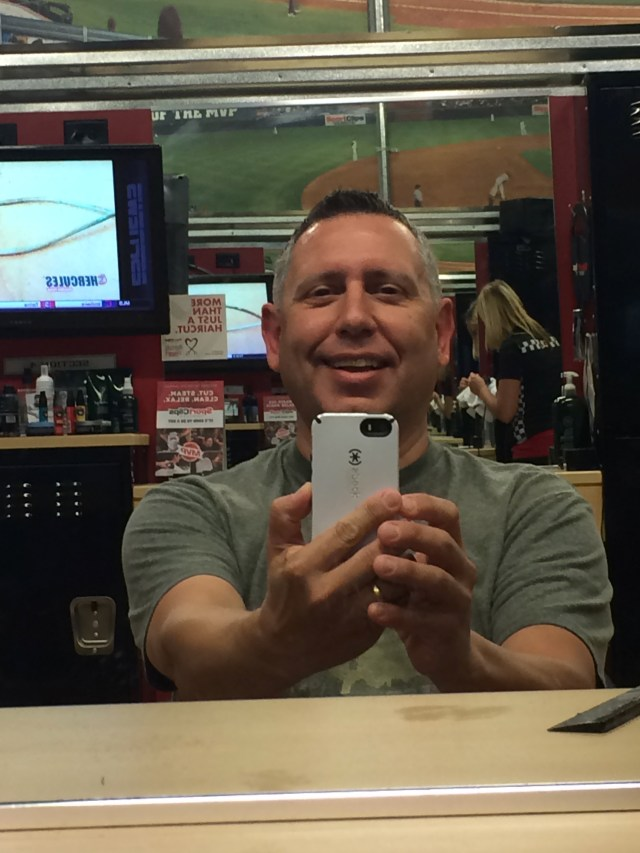 parenting selfcare hair cut