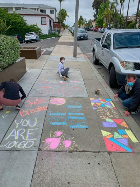 Chalk painting in North Park