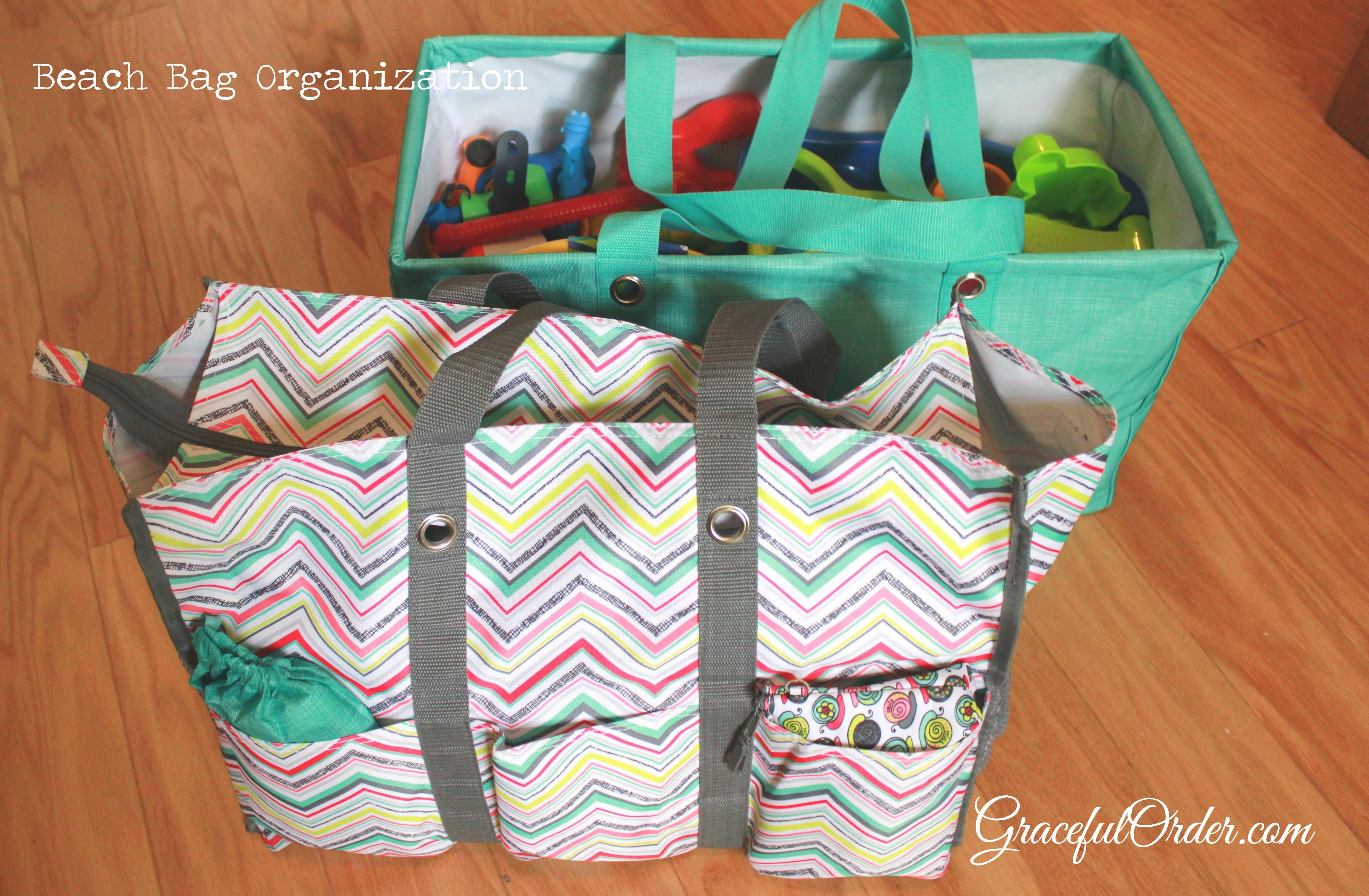 92763c5de7 Beach Bag Organization - Graceful Order