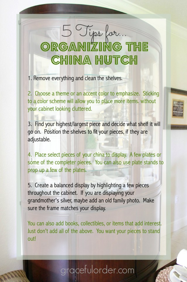 Decorating a China Cabinet / Hutch