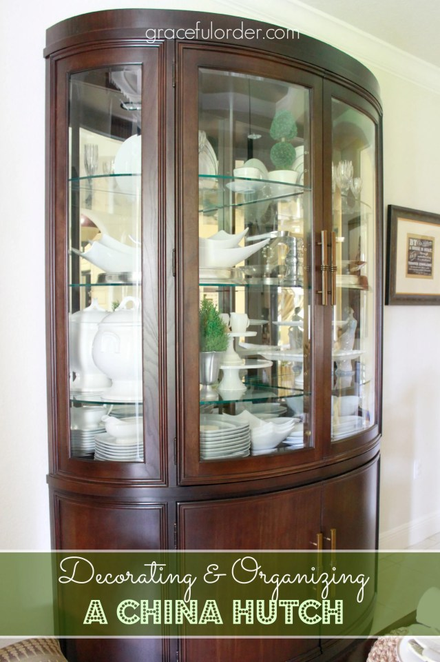 Decorating a China Cabinet / Hutch