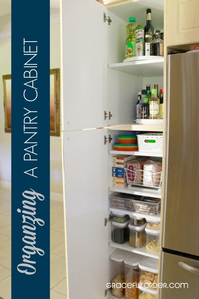 Organizing a Deep Pantry Cabinet