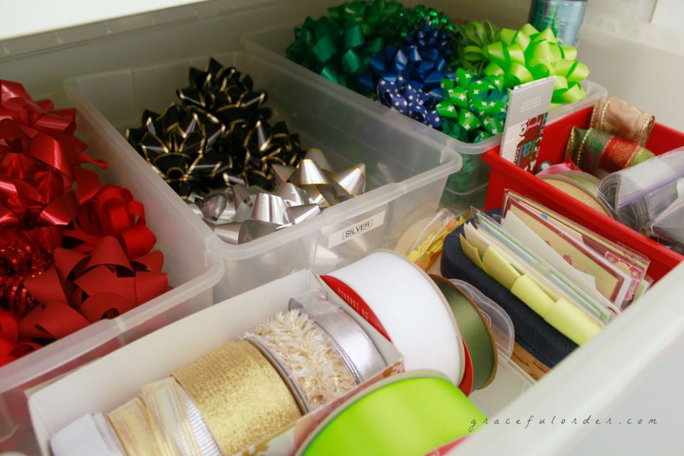 Organizing a Gift Wrapping Station