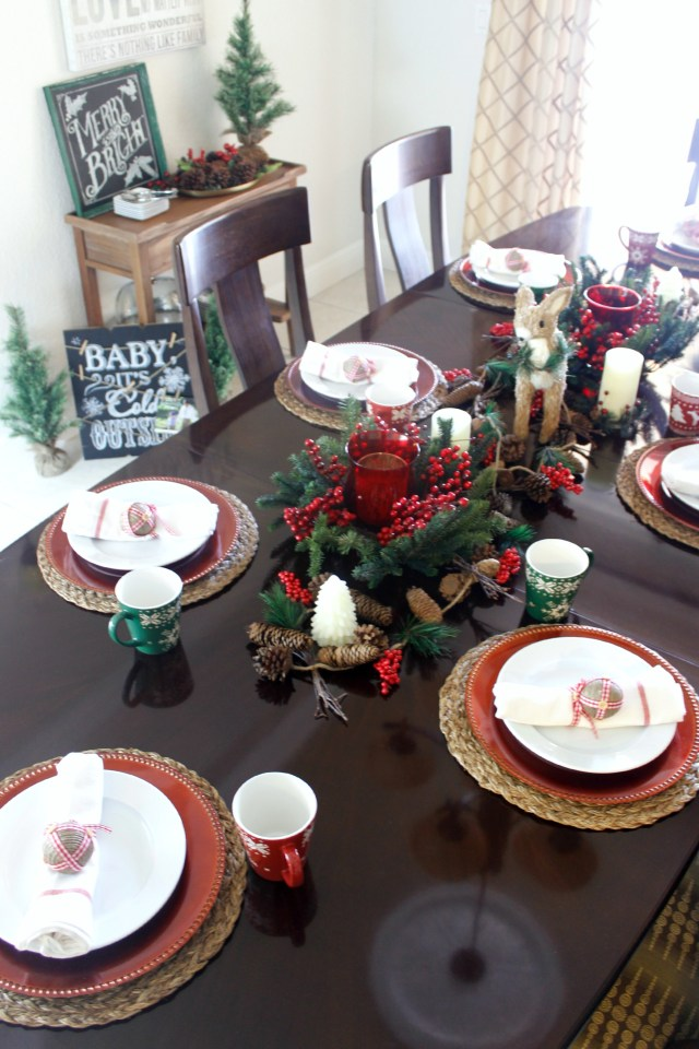 Christmas Woodland Dining Room