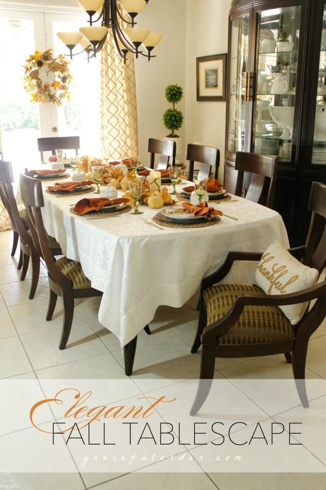 Elegant Fall Tablescape