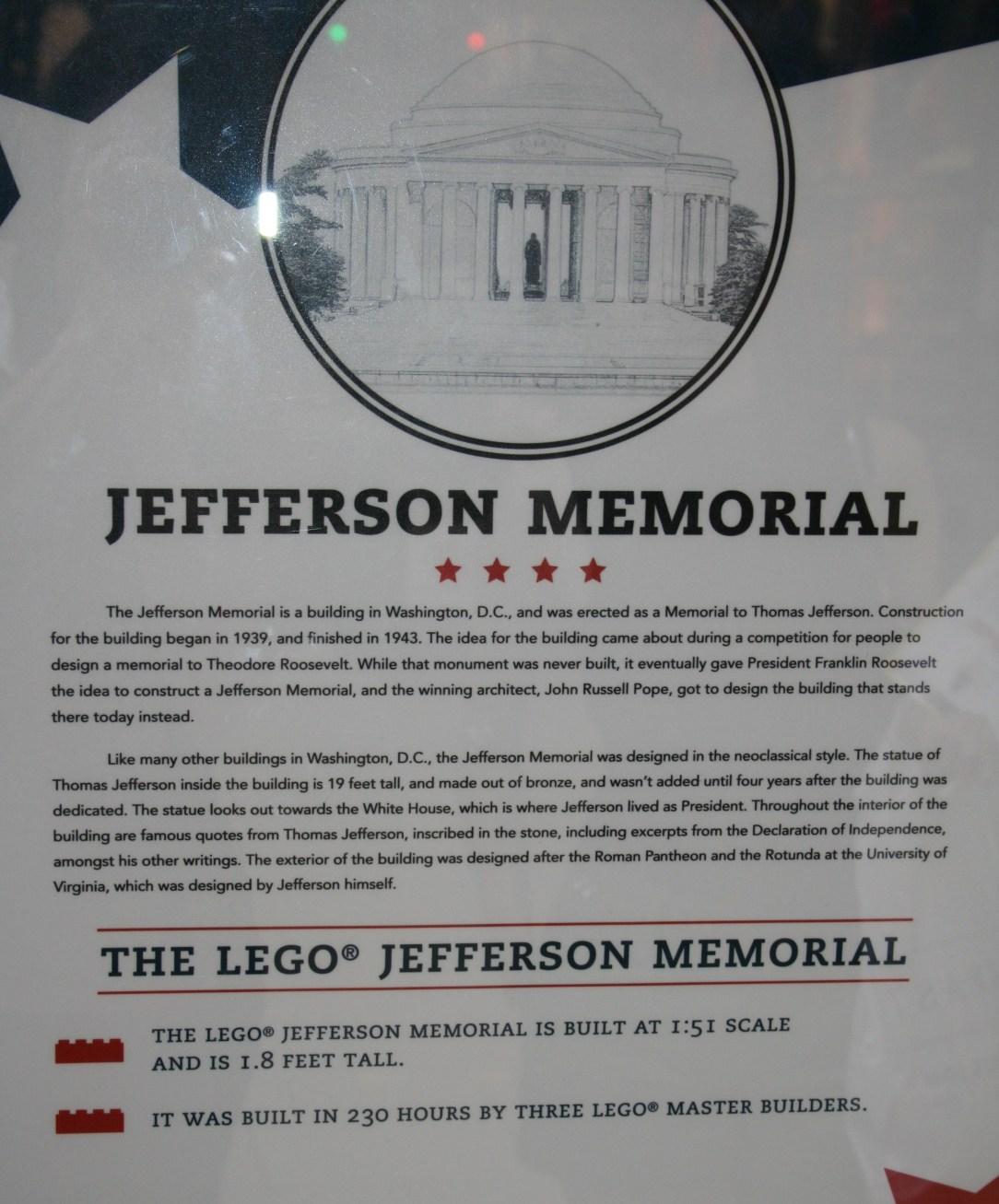 Jefferson Memorial Writing