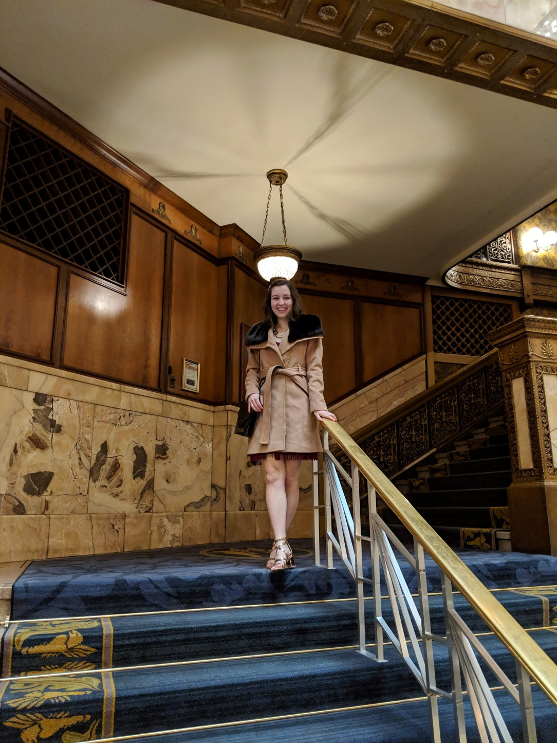 luxurious outerwear old fashioned stairs
