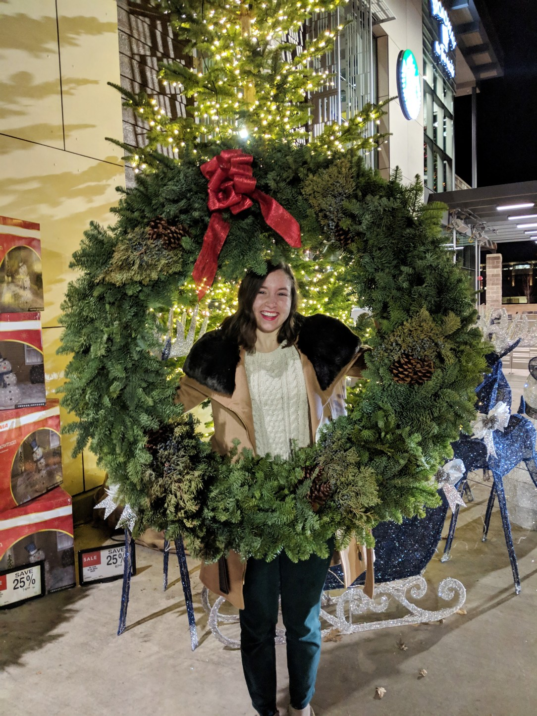 Christmas wreath holiday outfit