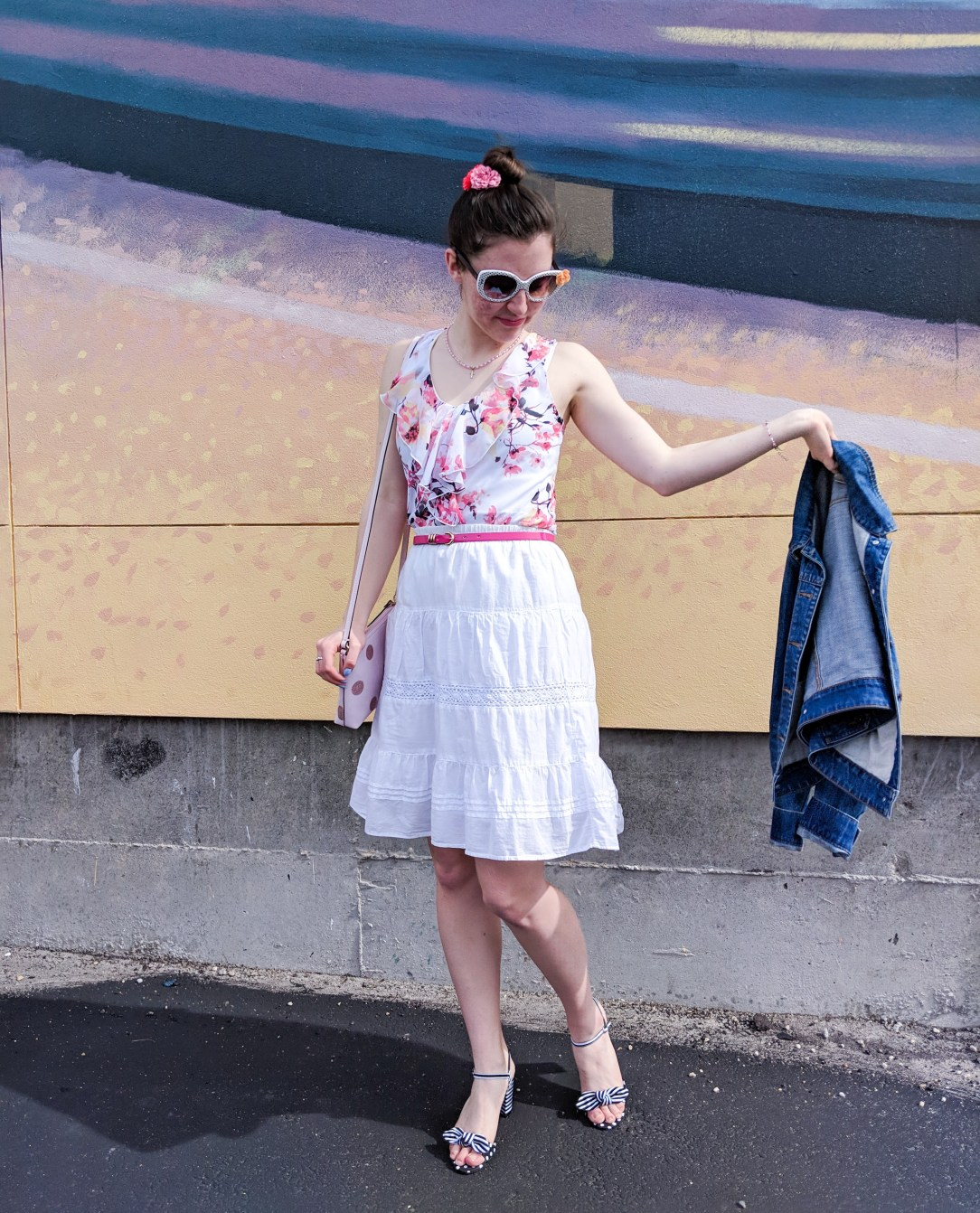 spring outfit, Easter outfit, florals for spring