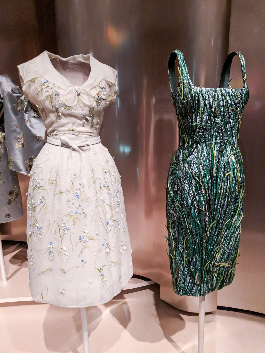 Dior grass inspired cocktail dress