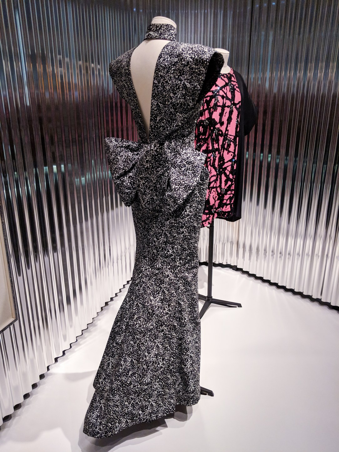 Jackson Pollock inspired Dior gown