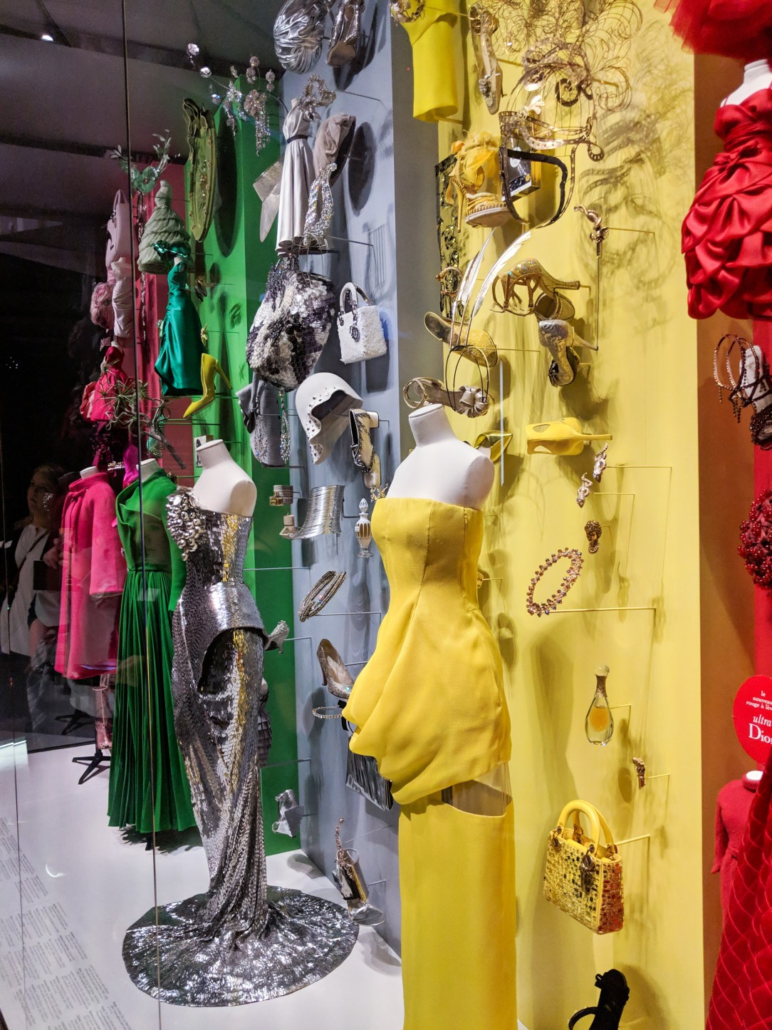 Dior color and accessory wall