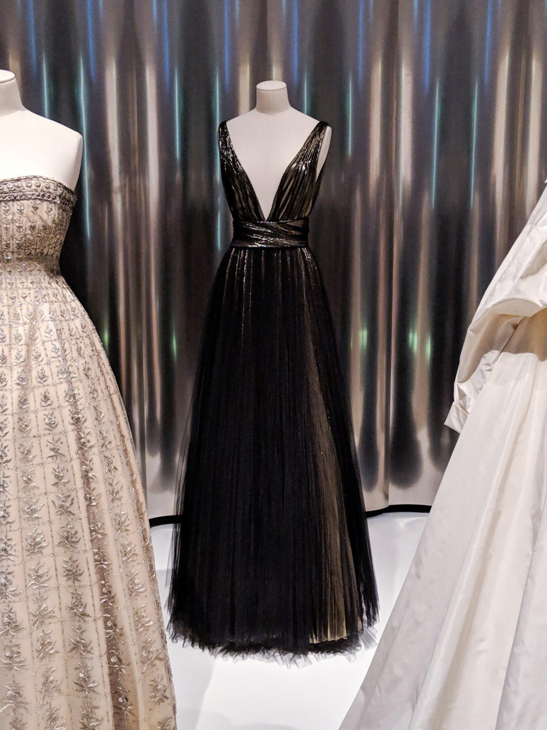 dark gold Dior gown worn by Charlize Theron
