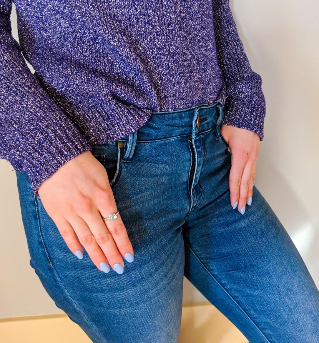 pastel blue nail polish, periwinkle, Sally Hansen