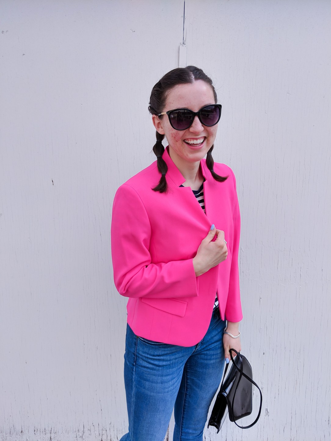 hot pink blazer from JCPenney