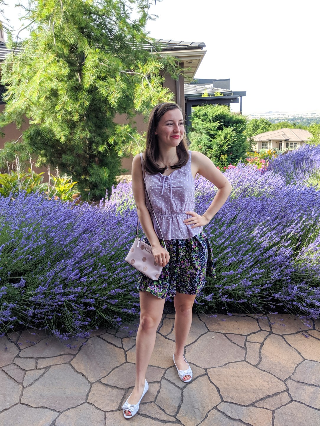 Purple, pattern mixing, Francesca's, Nordstrom rack