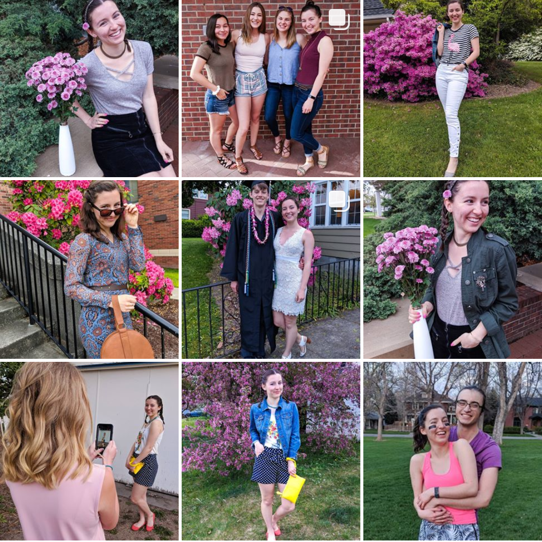 Fashion blogger, pink Instagram feed,