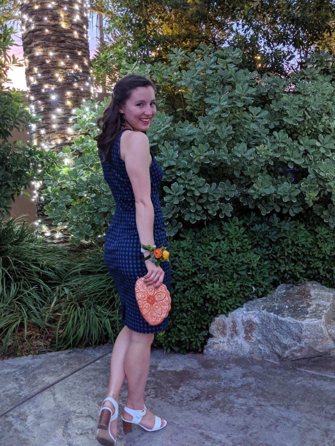 A Gingham Wedding Guest Outfit
