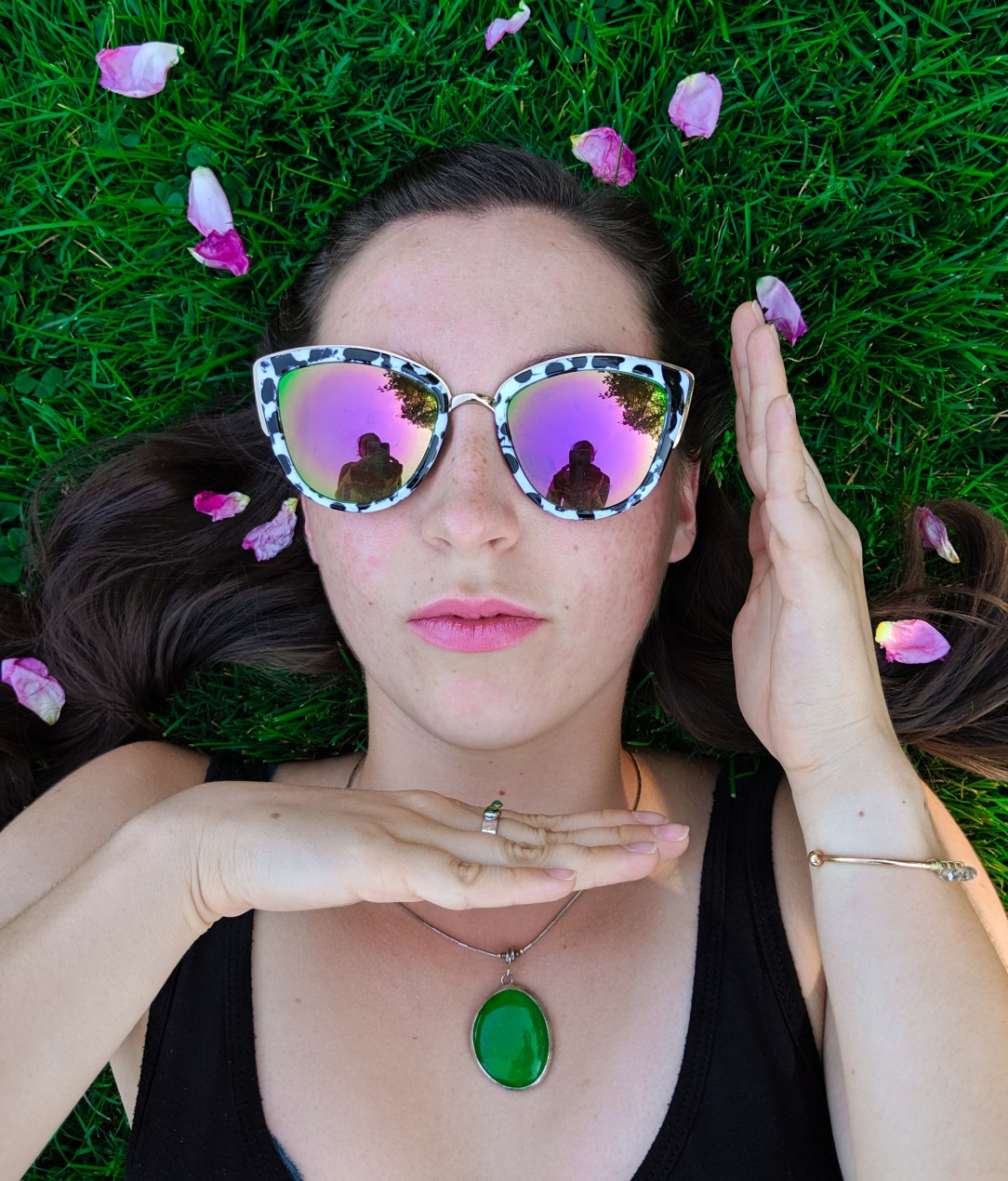 vogue, patterned sunglasses, mirrored sunglasses