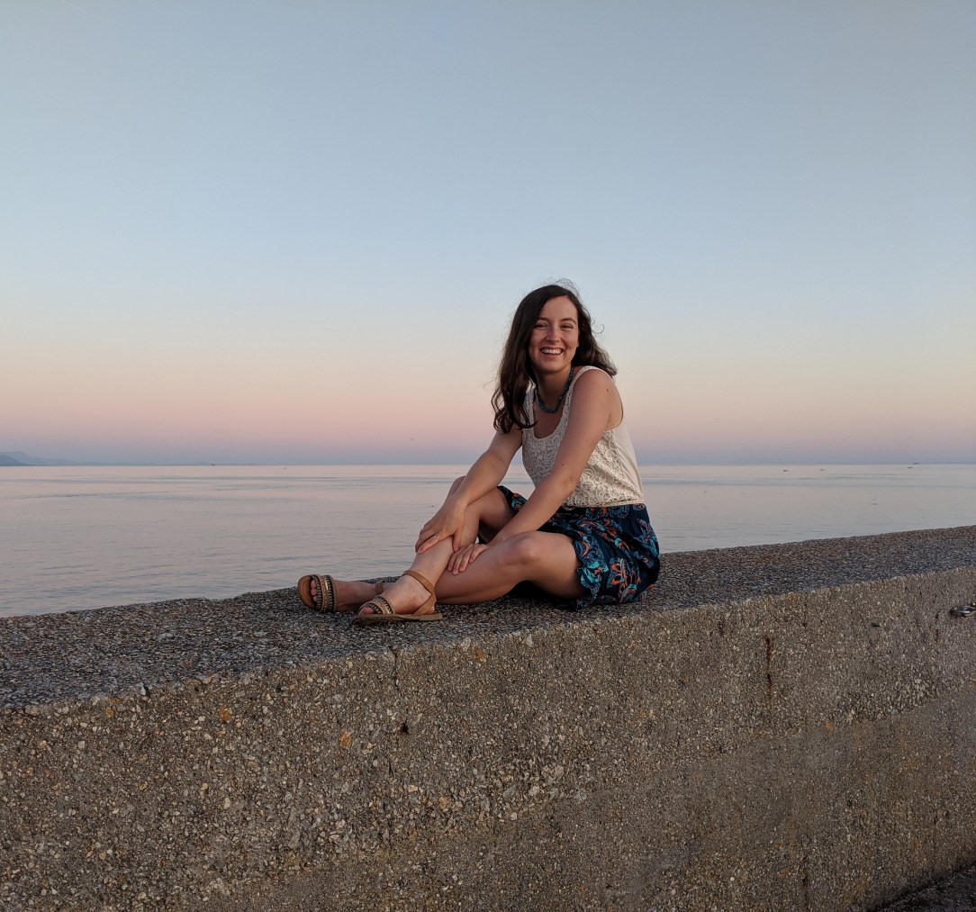 Finisterre, Spanish sunset, traveling abroad, printed skirt, JCPenney