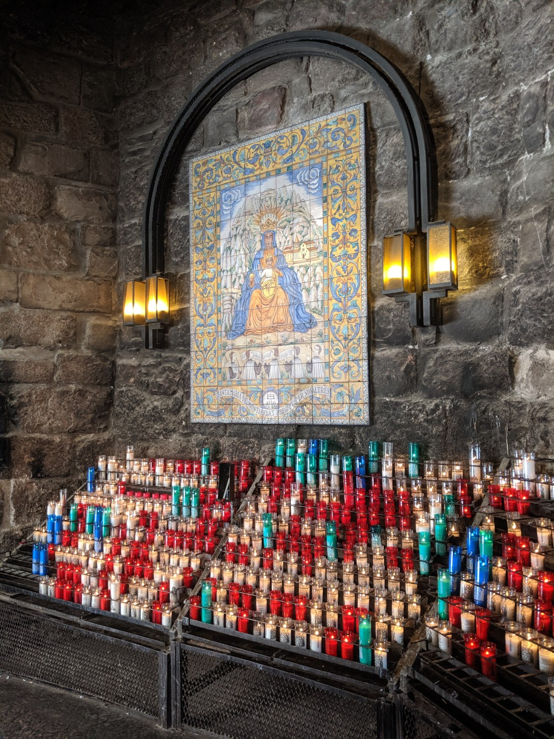 candle lighting, candles, Montserrat, Spain