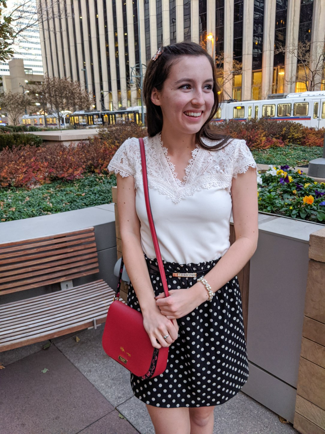 pop of red, H&M, Kate Spade, Francesca's