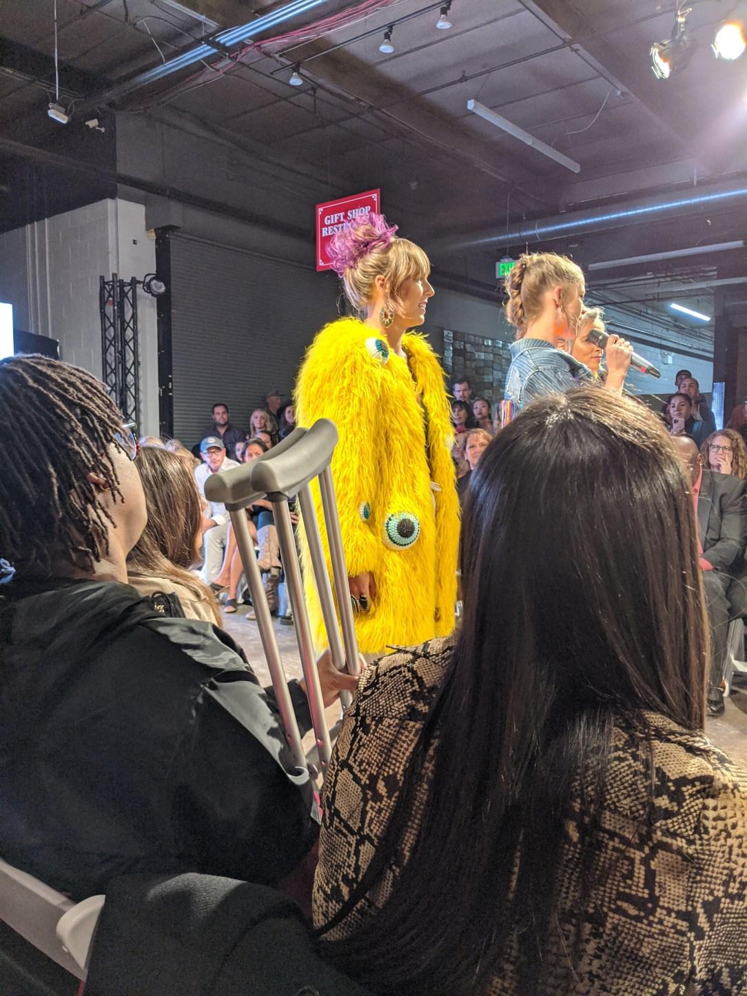 runway fashion, fun coat, yarn, fashion blogger