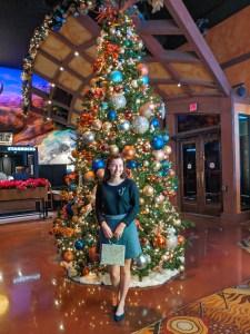 Christmas tree, festive, holiday outfit, Christmas time