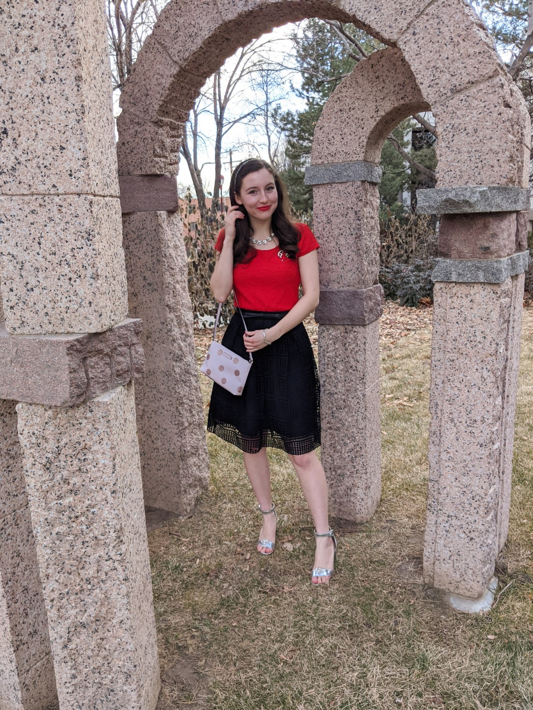 red and pink clothing, Valentine's Day, V-Day look