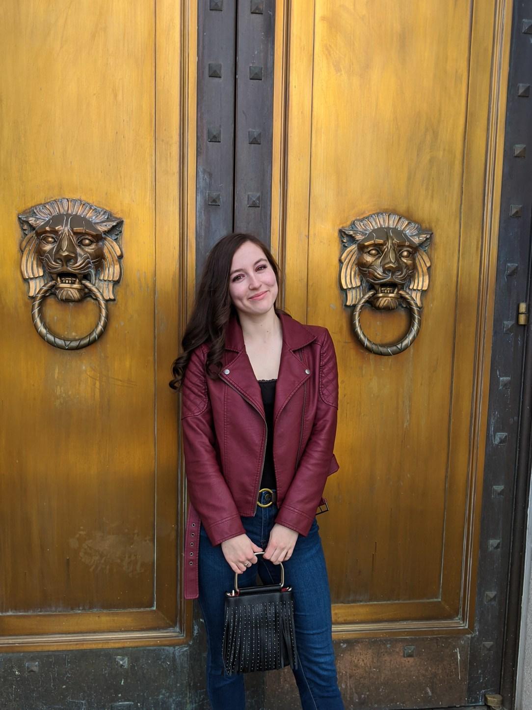 Denver Fashion Week, model casting call, burgundy moto jacket