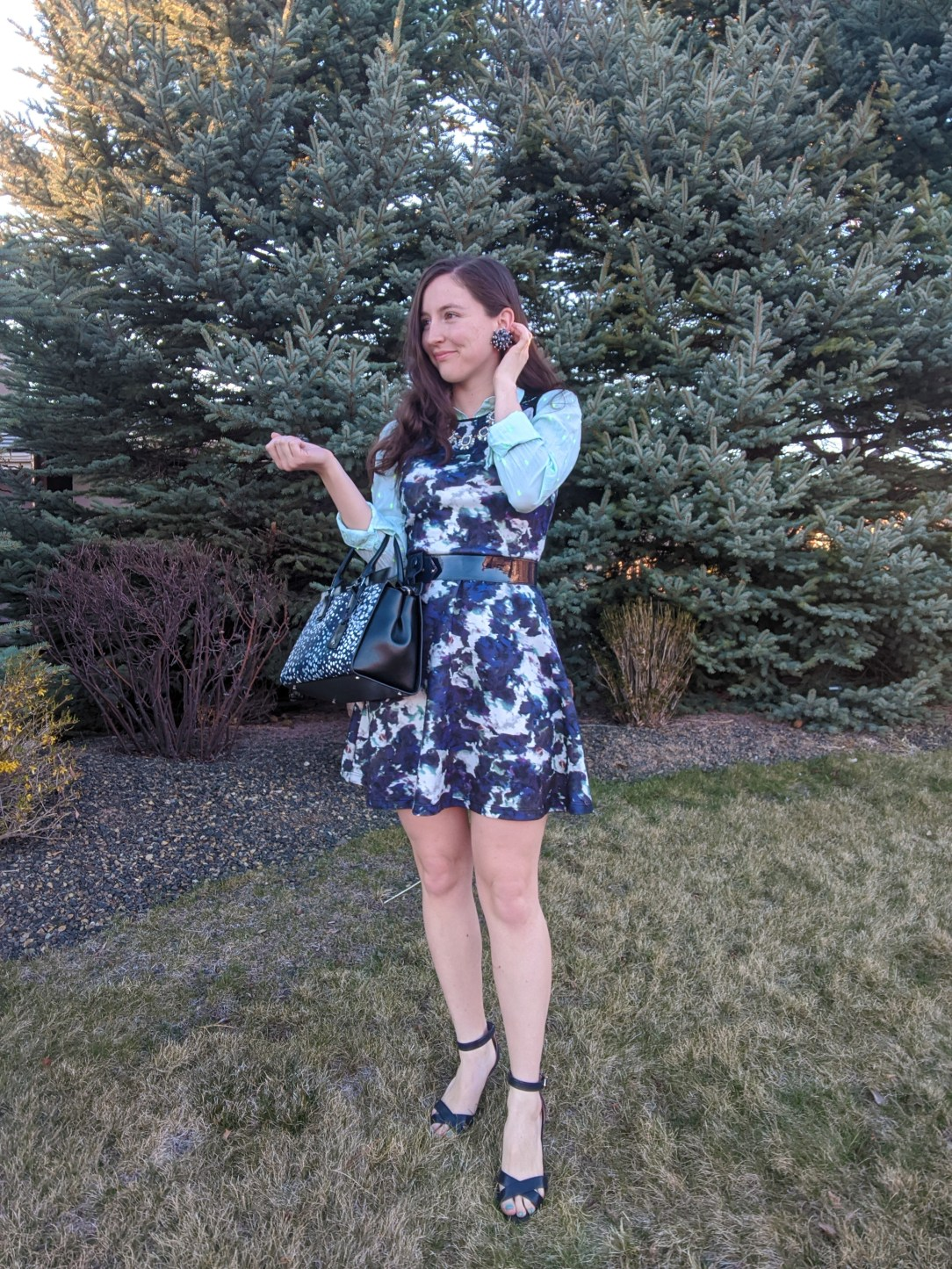 bold fashion, pattern mixing, college fashion blogger, Mindy Project style