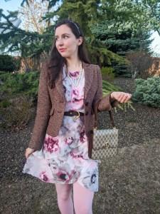Blair Waldorf outfit, JCPeney, floral dress, ruffle dress