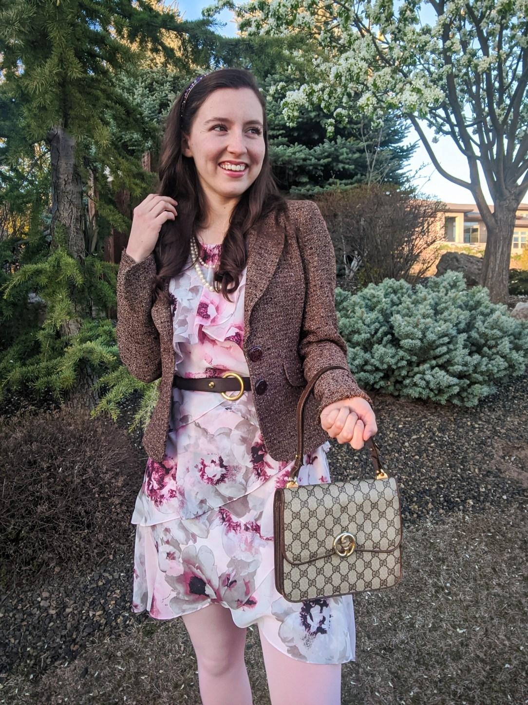 gossip girl style, gossip girl series, pink floral dress