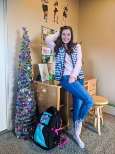 pink sweater, JCPenney, Francesca's, at-home outfit, comfy outfit, casual outfit