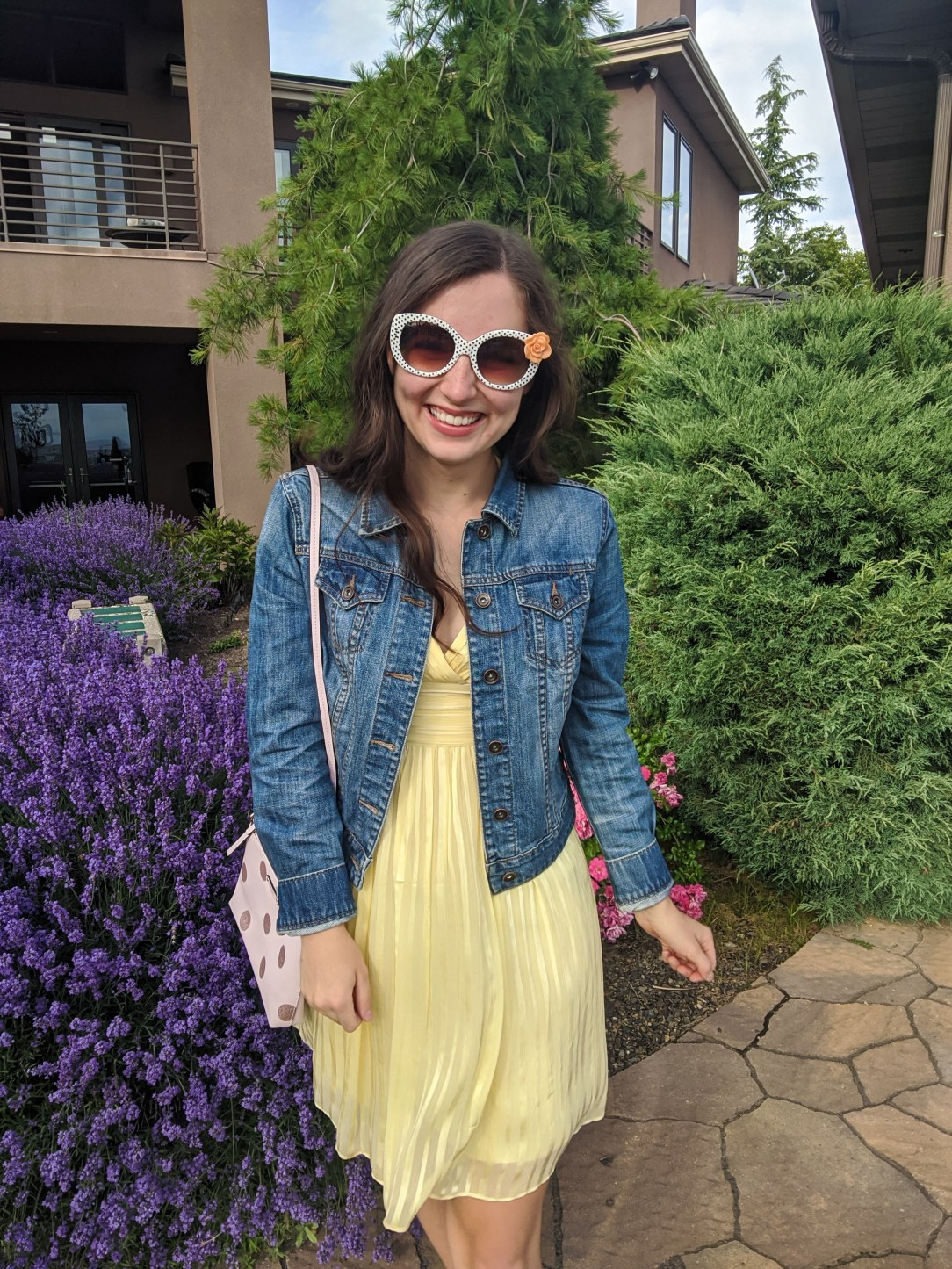yellow-dress-summer-style-sundress-jean-jacket