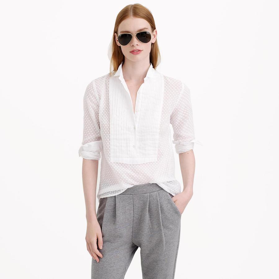 Ordinary white blouse; source: JCrew