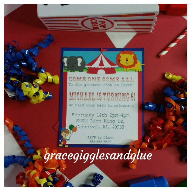 10 Carnival Circus Themed Invitations Baby Shower