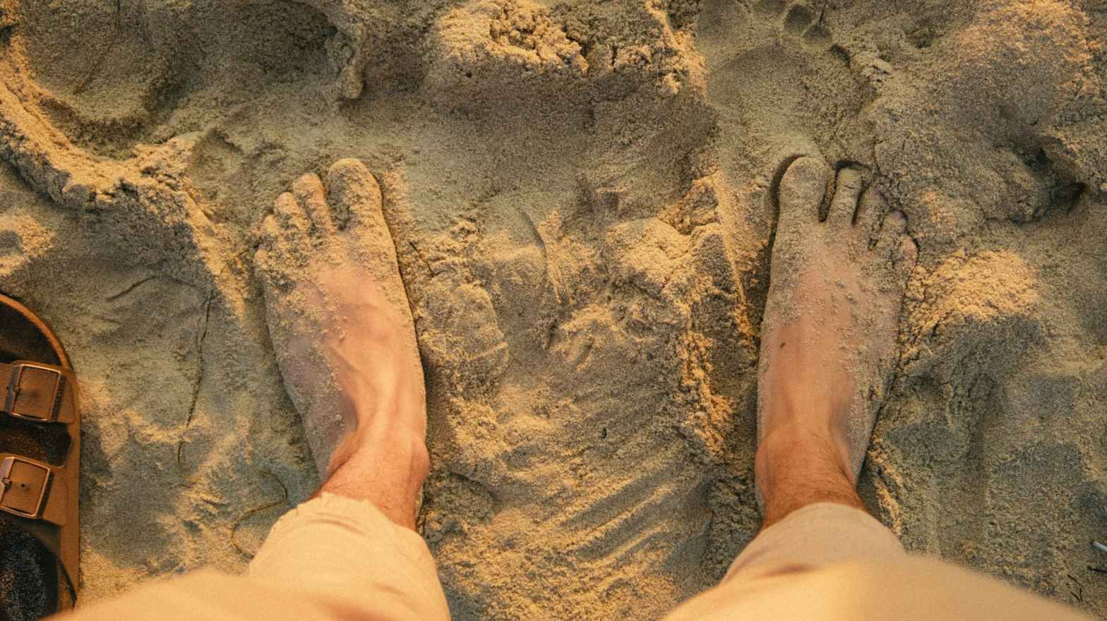 high angle photo of person s feet