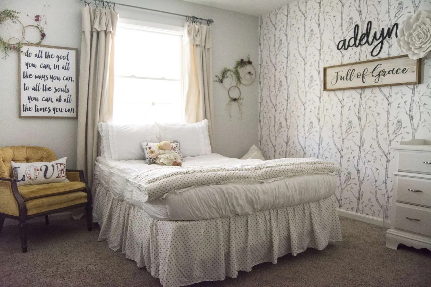 Girl's Bedroom Decor | A Simple and Sweet Makeover | Grace ... on Beautiful:9Ekmjwucuyu= Girls Room Decoration  id=58735