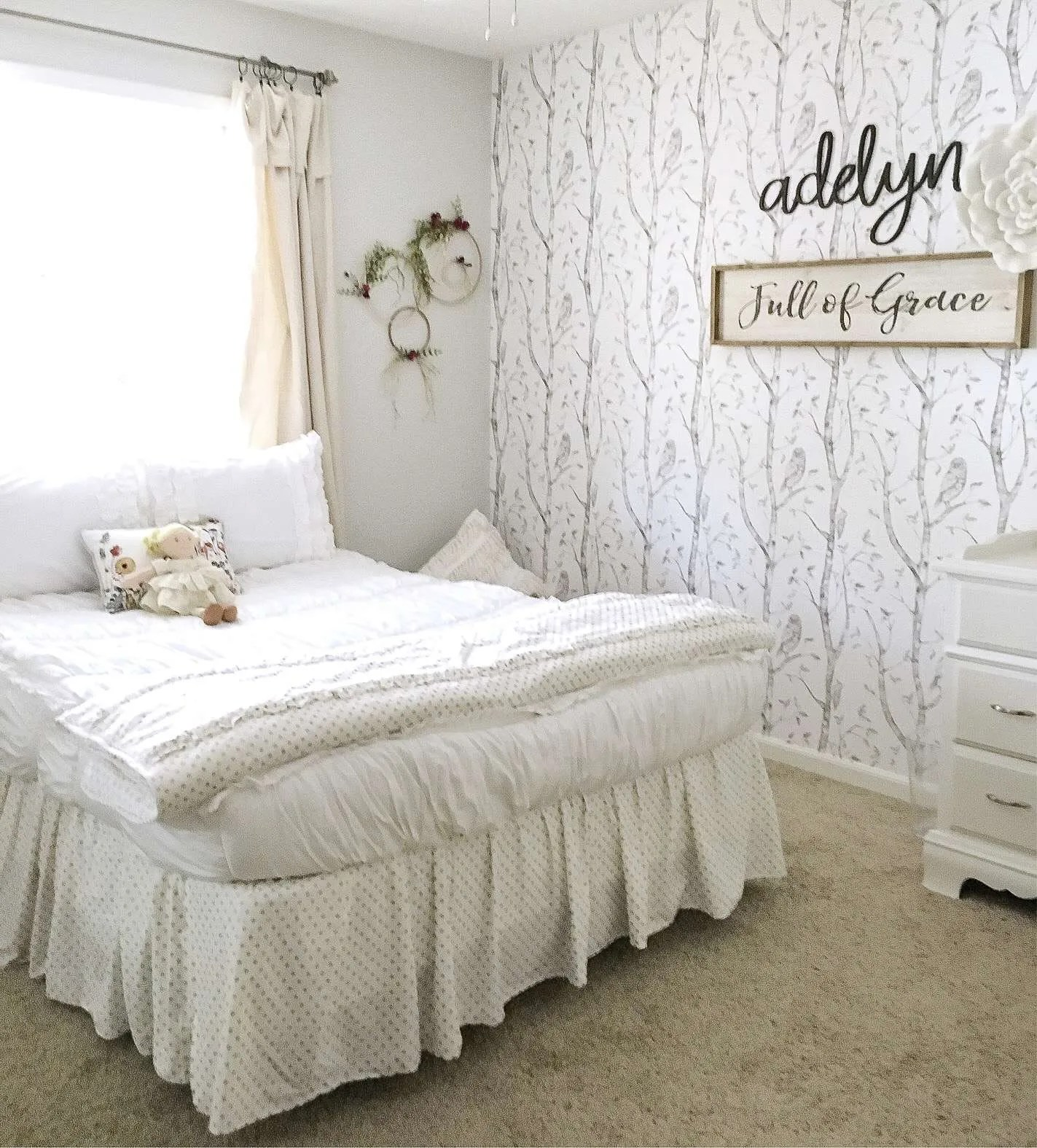 Girl's Bedroom Decor | A Simple and Sweet Makeover | Grace ... on Girls Room Decor  id=37461
