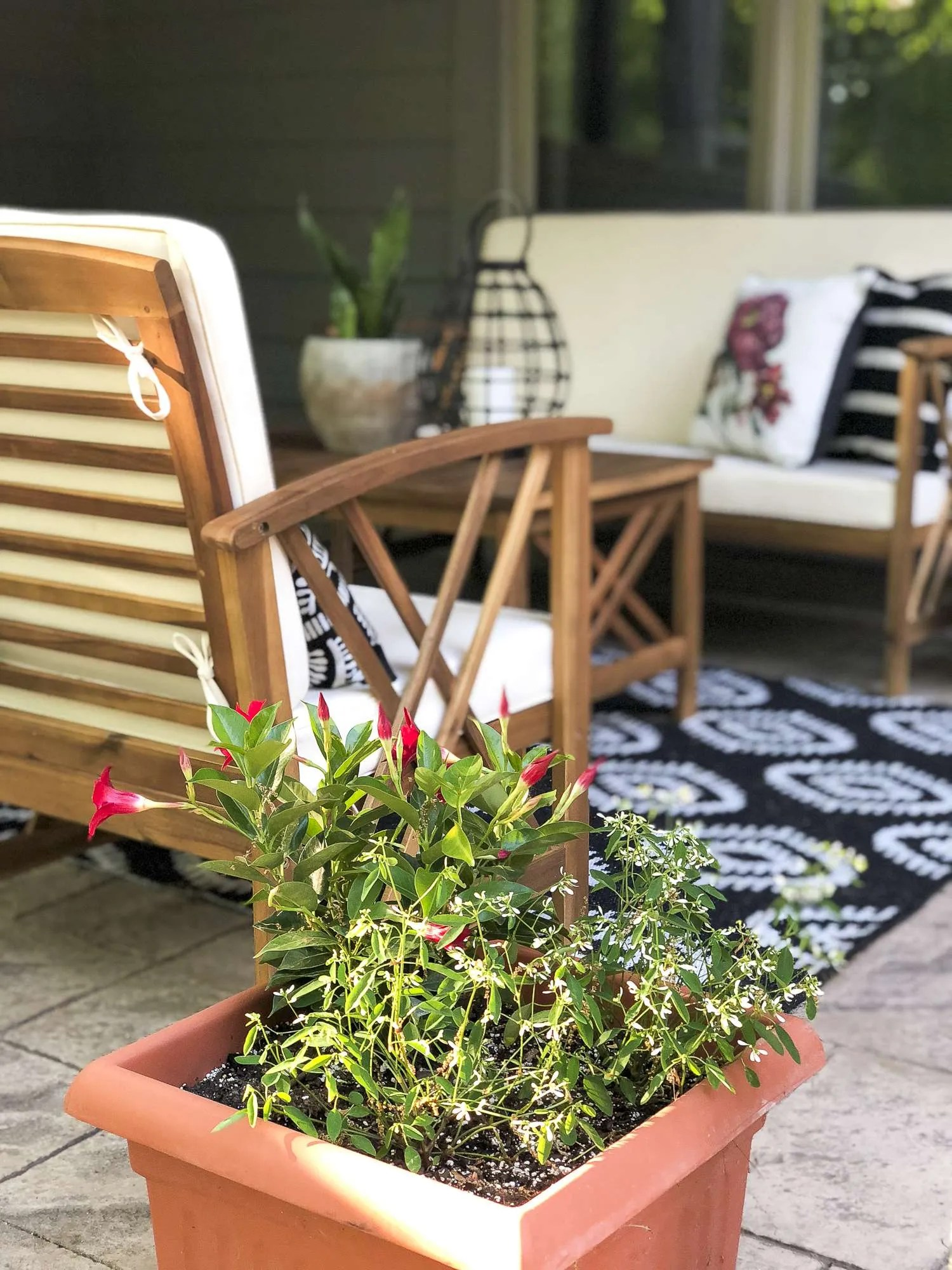 Five Easy Updates to Your Outdoor Living Space | Grace In ... on My Backyard Living id=69495