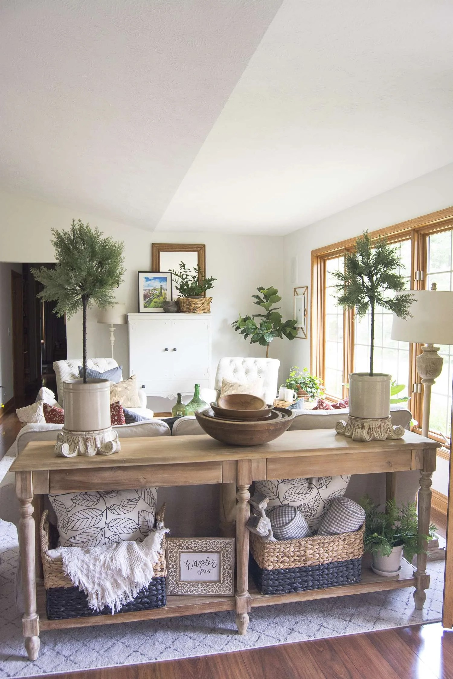 Vintage Farmhouse Decor | Living Room Update | Grace In My ... on Curtains For Farmhouse Living Room  id=19842