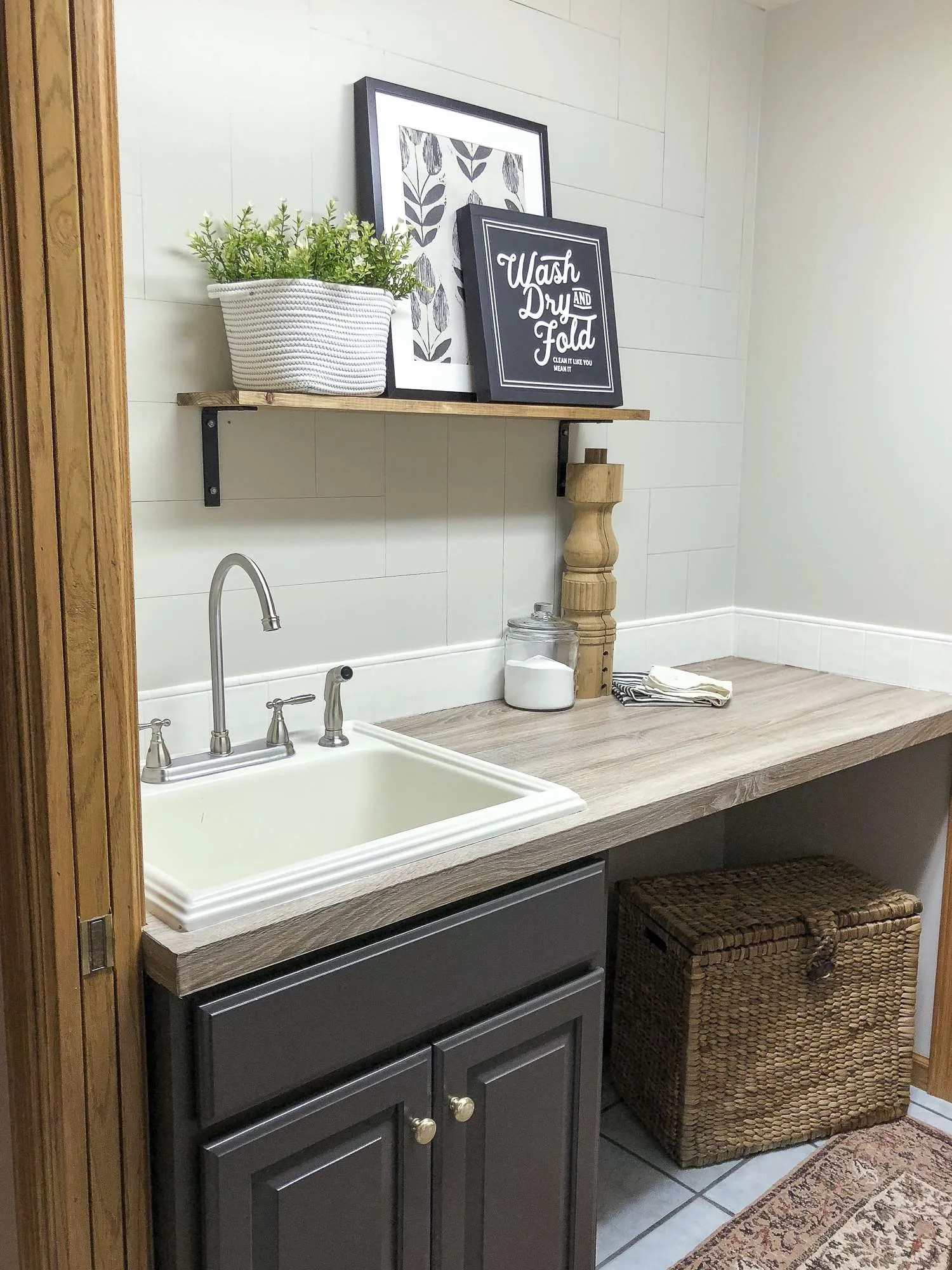 Laundry Room Decor & More | The Final Reveal | Grace In My ... on Laundry Decoration  id=28068