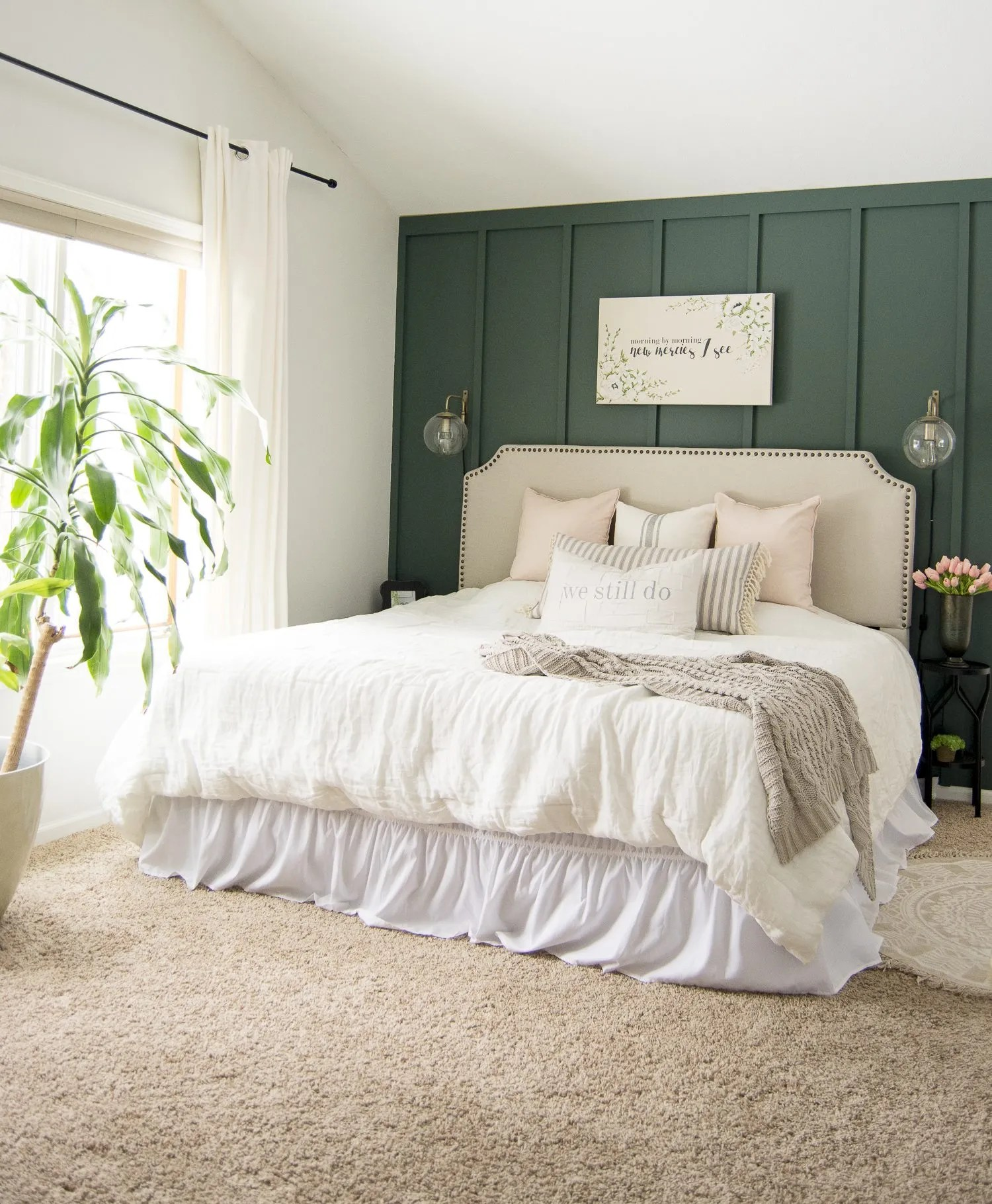 key elements of a modern farmhouse bedroom grace in my space on modern farmhouse master bedroom ideas id=61519