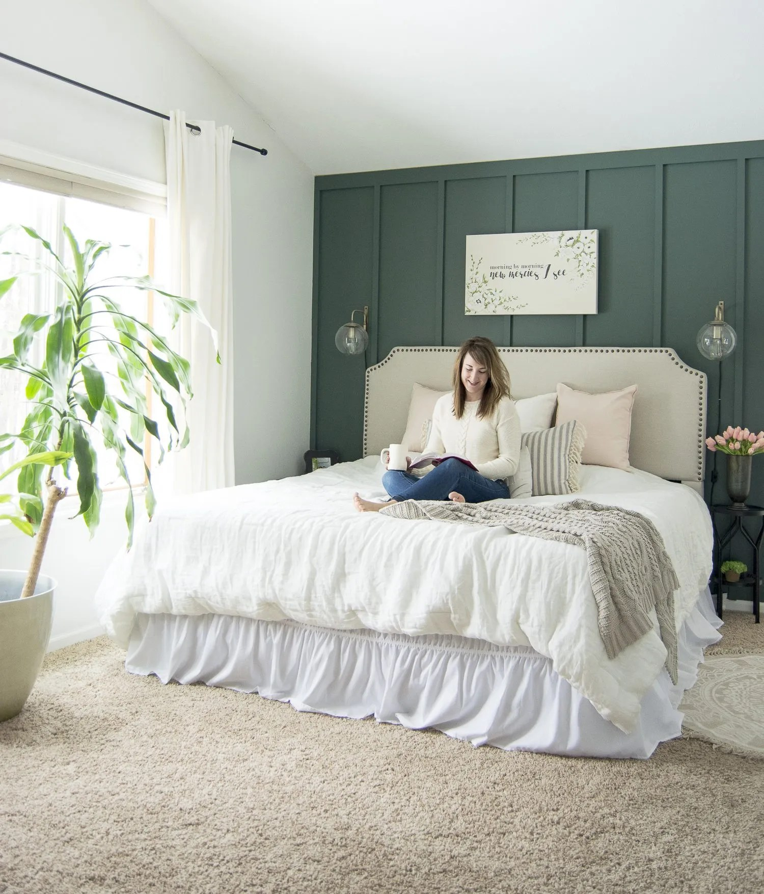 Key Elements of a Modern Farmhouse Bedroom   Grace In My Space on Bedroom Farmhouse Decor  id=37735