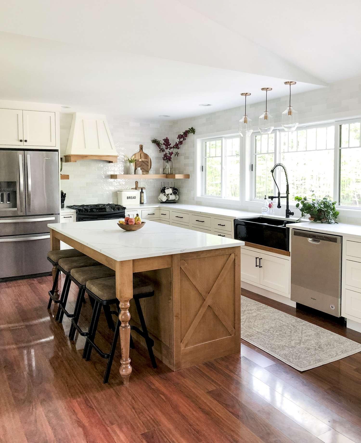Designing a Modern Farmhouse Kitchen with a Black ... on Modern Farmhouse Bathroom  id=36478