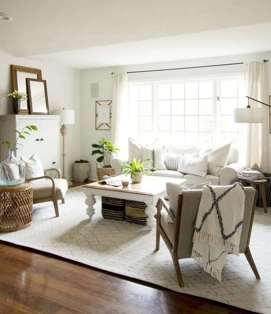 How to Get the Modern Farmhouse Living Room Look | Grace ... on Curtains For Farmhouse Living Room  id=87640