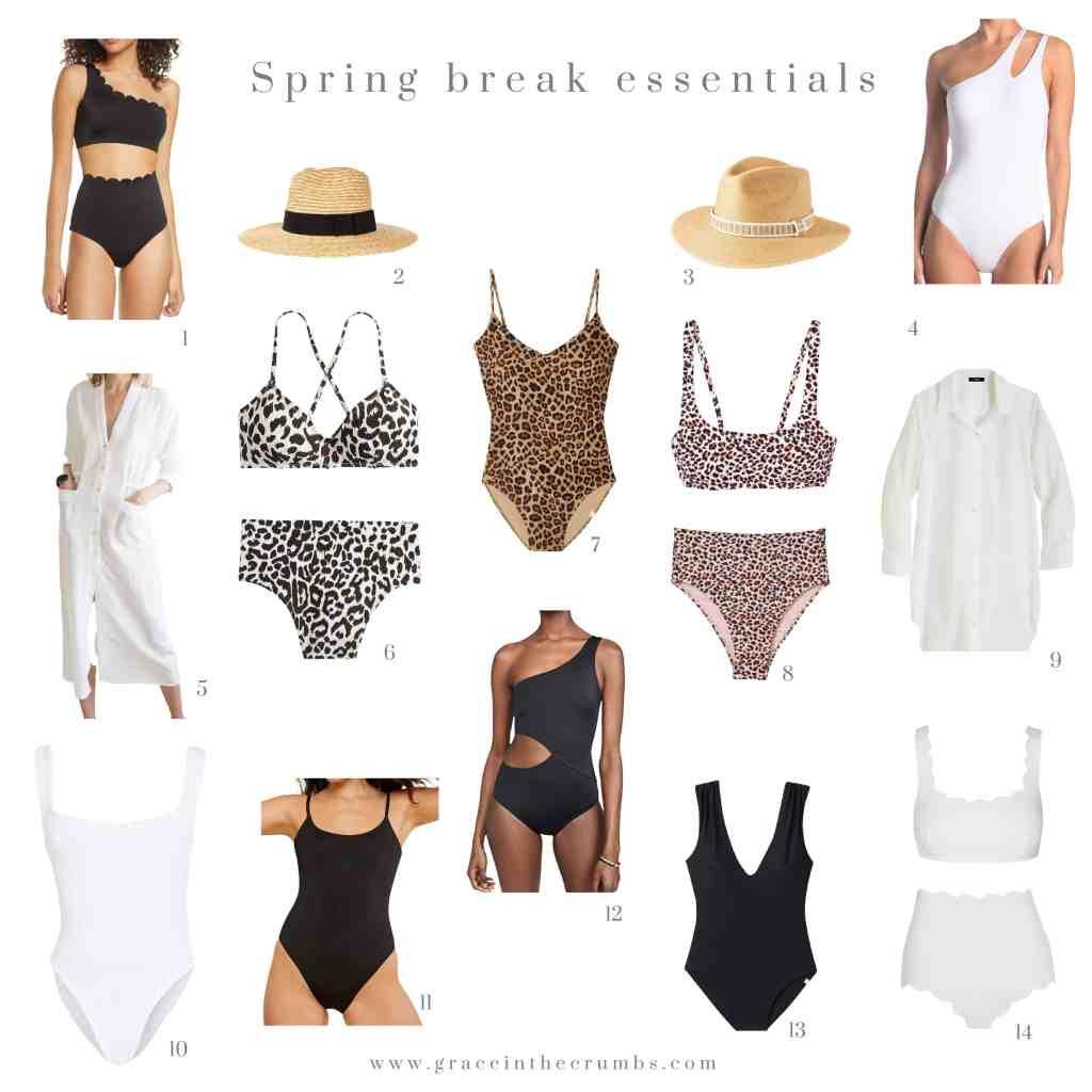 Spring break essentials - swimsuits
