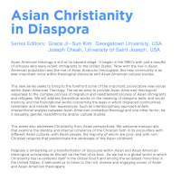 Book Series:  Asian Christianity in Diaspora
